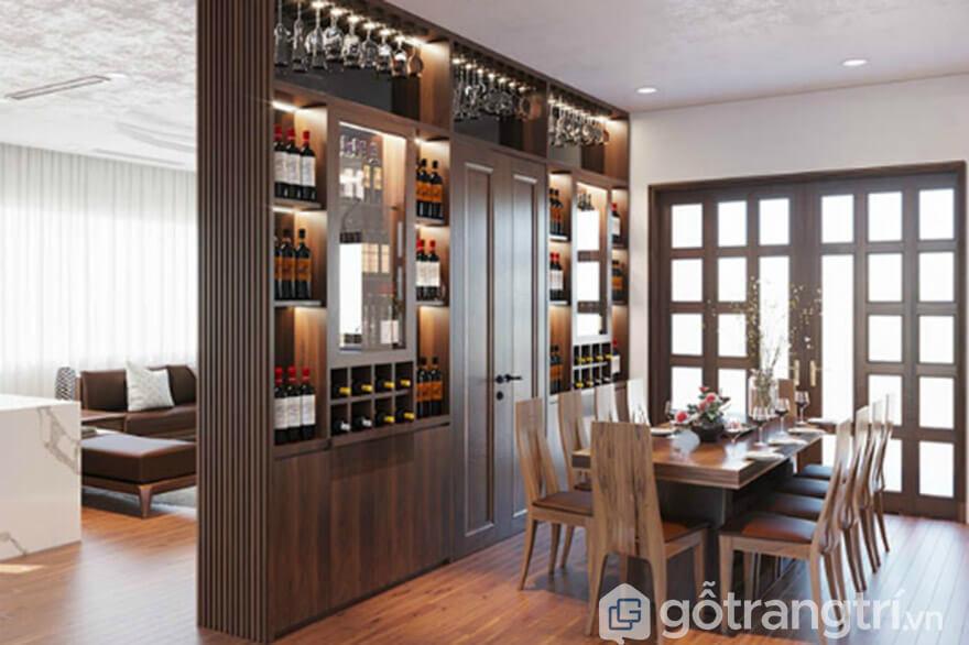 cách trưng bày tủ rượu đẹp