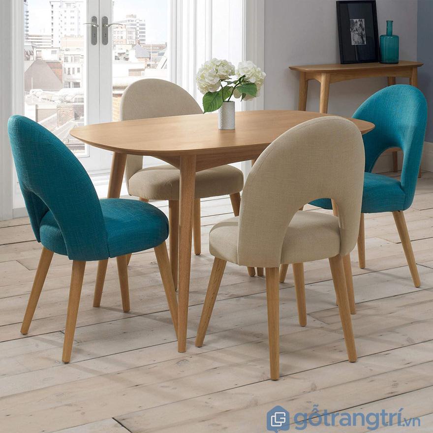 Ghế bàn ăn bọc nỉ đẹp