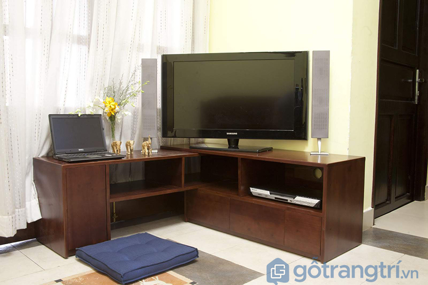 Kệ tivi kết hợp với bàn làm việc