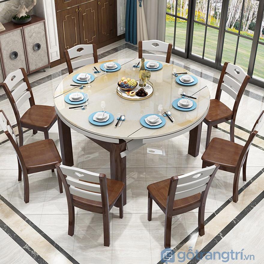kích thước bàn ăn 10 ghế