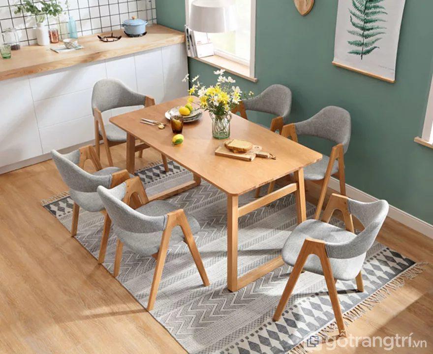 kích thước bàn ăn 6 ghế