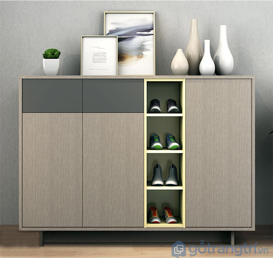 Mẫu tủ giày dép hiện đại