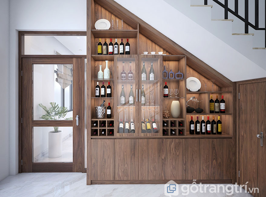 Mẫu tủ rượu gỗ tự nhiên đẹp