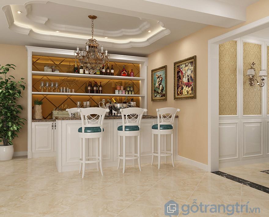 mẫu tủ rượu phòng bếp