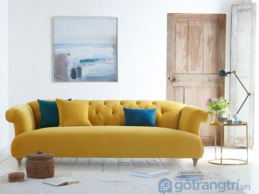 sofa nỉ hiện đại phòng khách