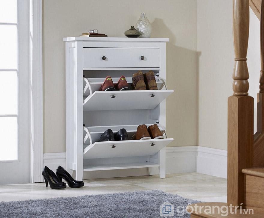 tủ giày gỗ 2 cánh