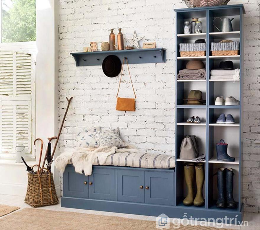 tủ giày thông minh có ghế ngồi