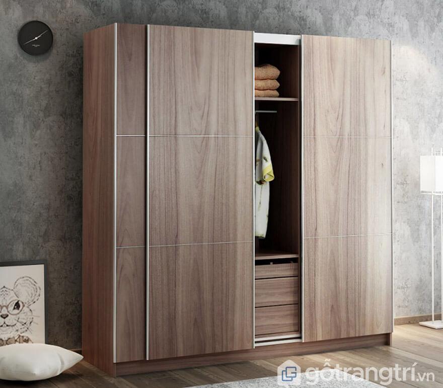mẫu tủ quần áo 3 buồng hiện đại