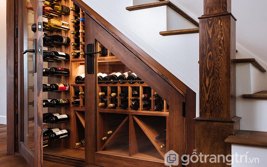 Tủ rượu gầm cầu thang đẹp