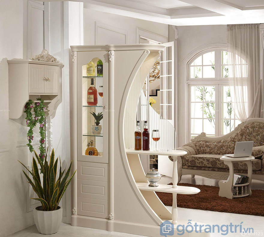 tủ rượu gỗ hương