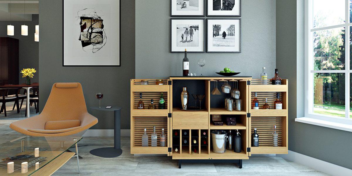 tủ rượu trang trí