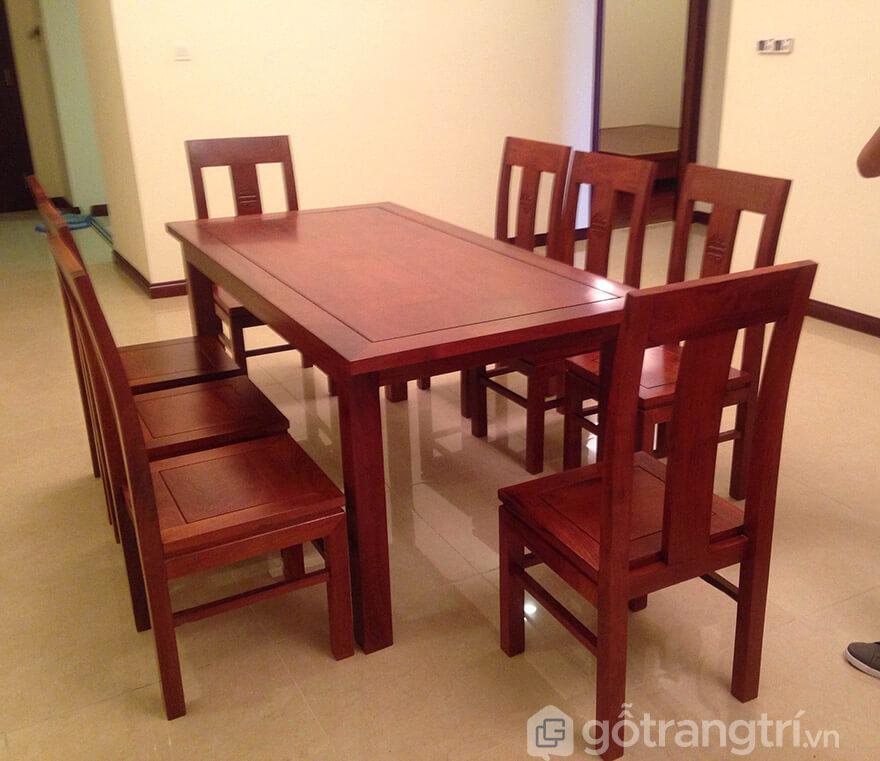 bàn ăn gỗ hương đỏ