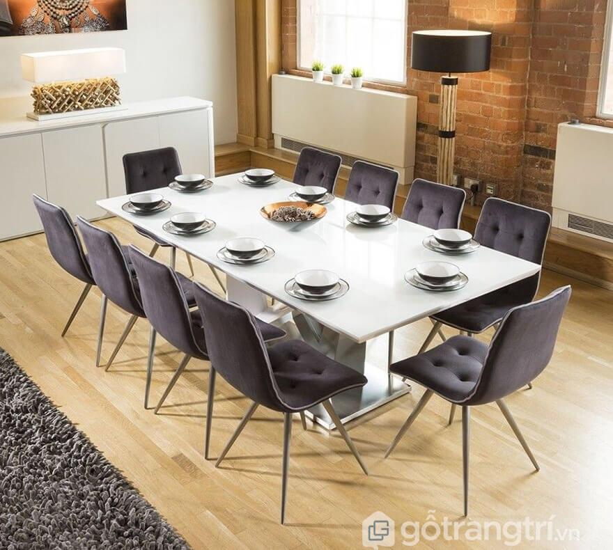 bộ bàn ăn 10 ghế hiện đại