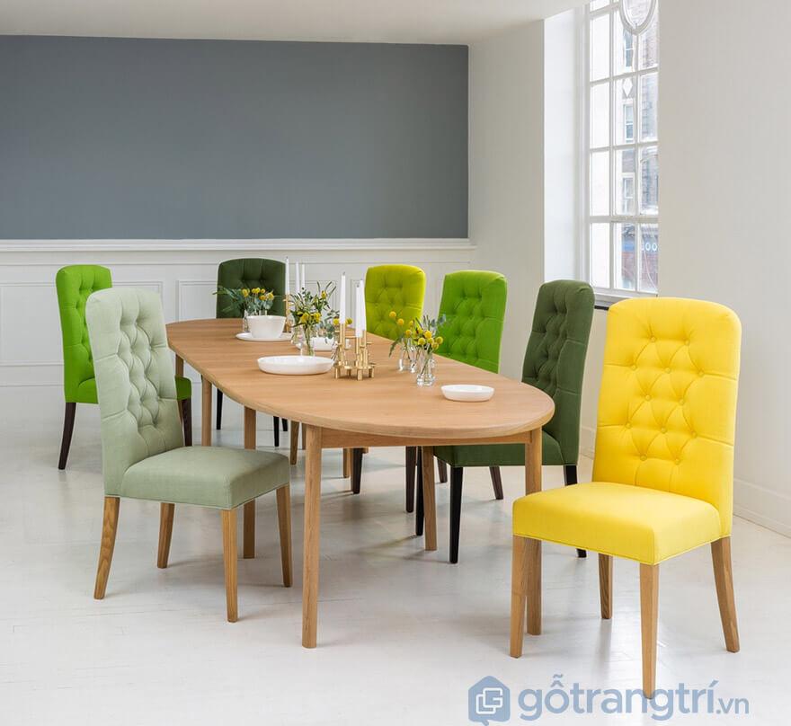 bộ bàn ăn 8 ghế gỗ sồi nga