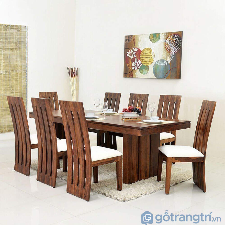 Kích thước bàn ăn 8 ghế tiêu chuẩn