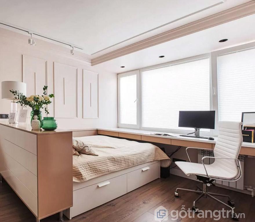thiết kế bàn làm việc trong phòng ngủ