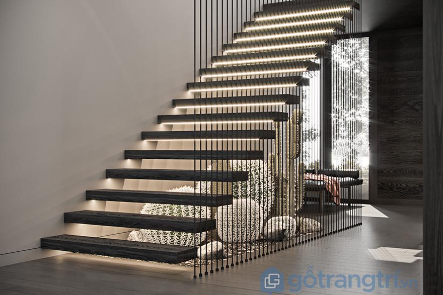 Vách ngăn trang trí cầu thang