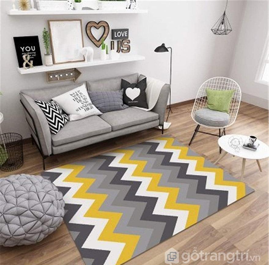 cách trải thảm phòng khách