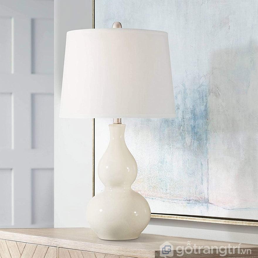 đèn ngủ để bàn gốm sứ