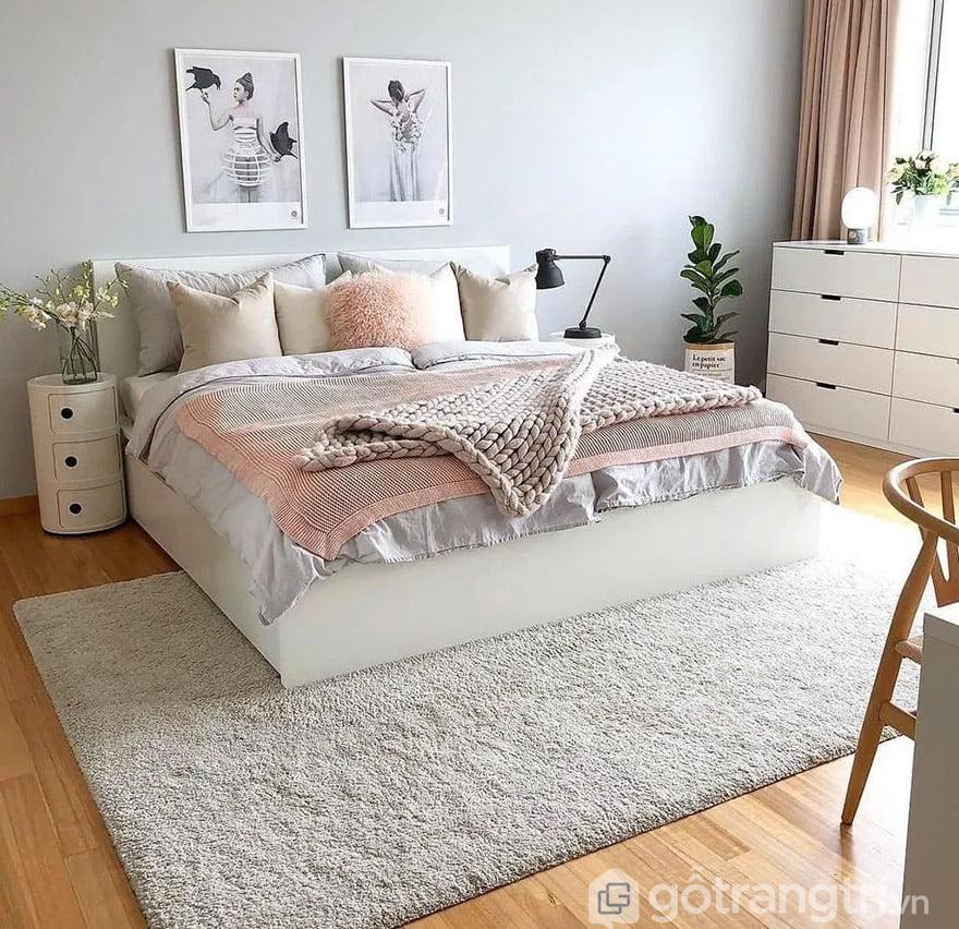 thảm lông trải sàn phòng ngủ
