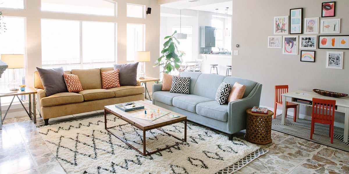 Thảm phòng khách lông ngắn