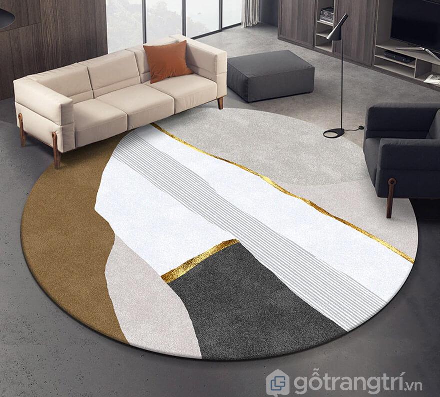 thảm trải sàn trang trí hình tròn