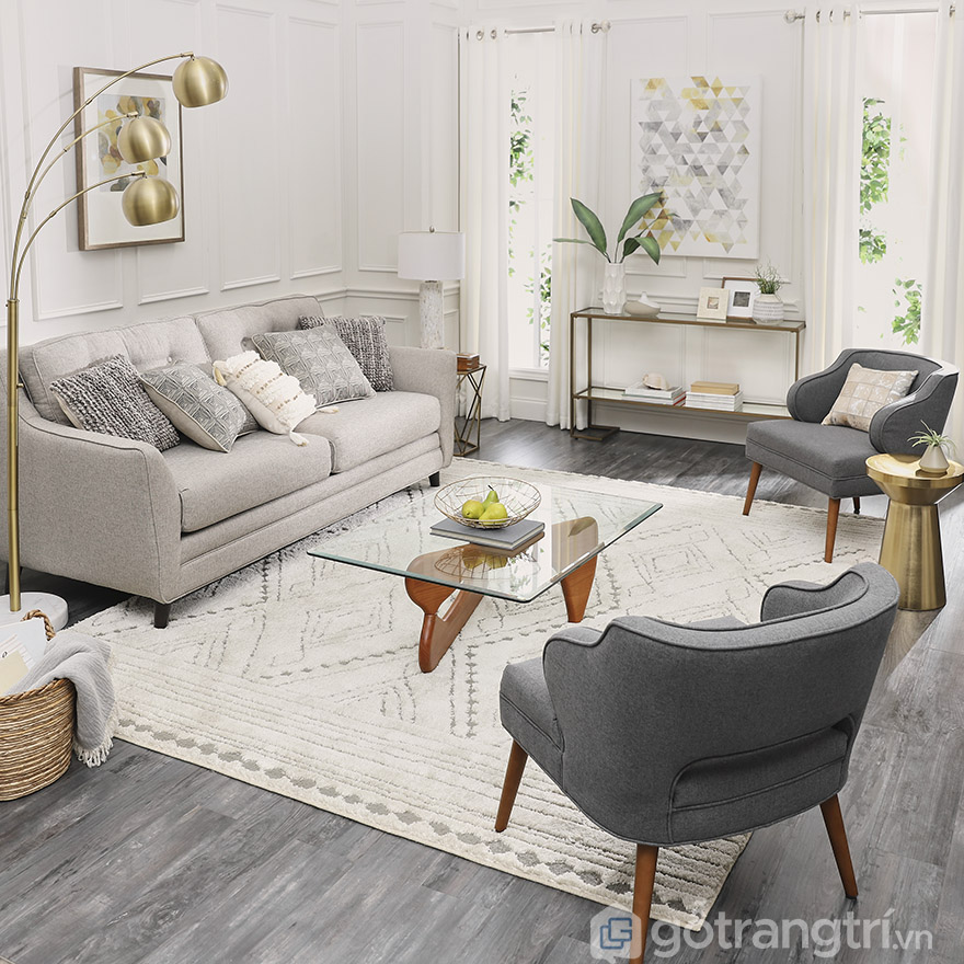 thảm trang trí phòng khách đẹp