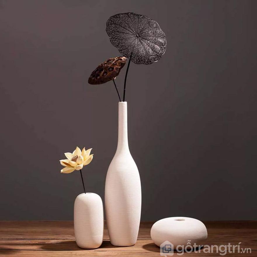 bình hoa giả đẹp để phòng khách