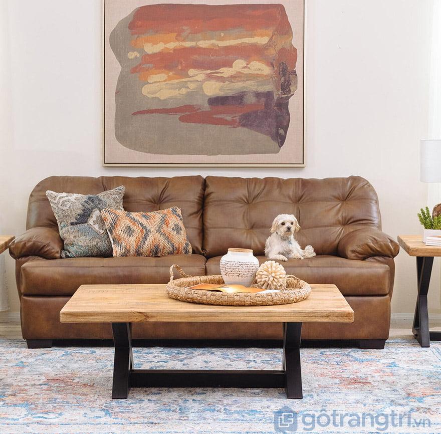 gối cho sofa da