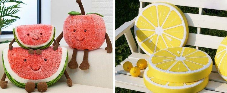 gối sofa hình trái cây