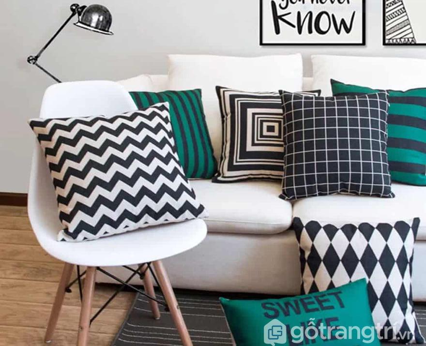 Gối trang trí ghế sofa