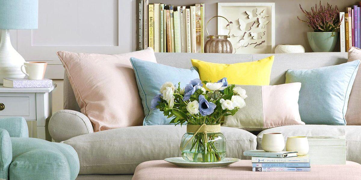 hoa giả trang trí nhà