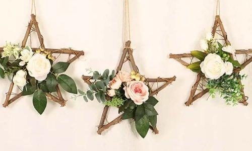 Hoa giả trang trí treo tường