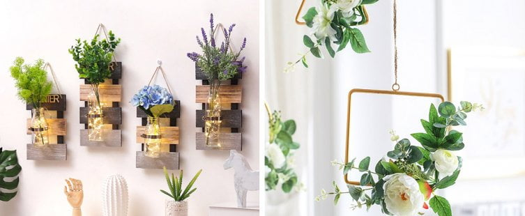 hoa giả treo tường