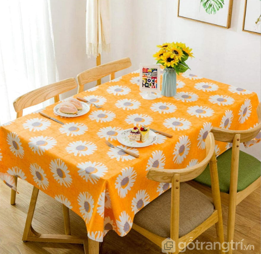 khăn trải bàn canvas vintage