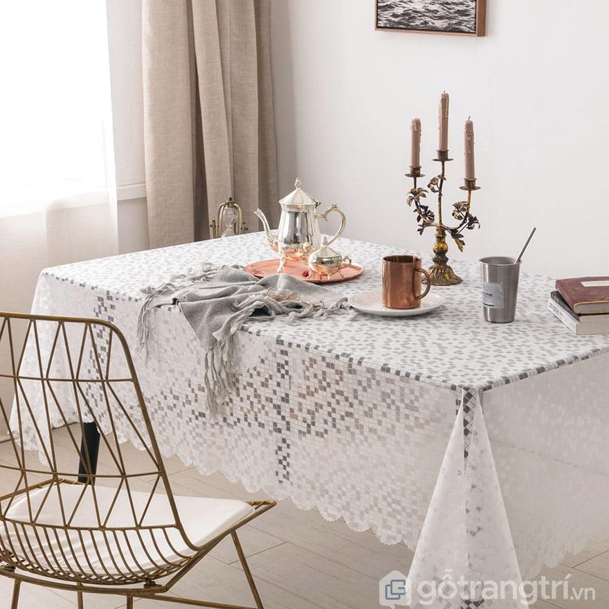 khăn trải bàn hình chữ nhật