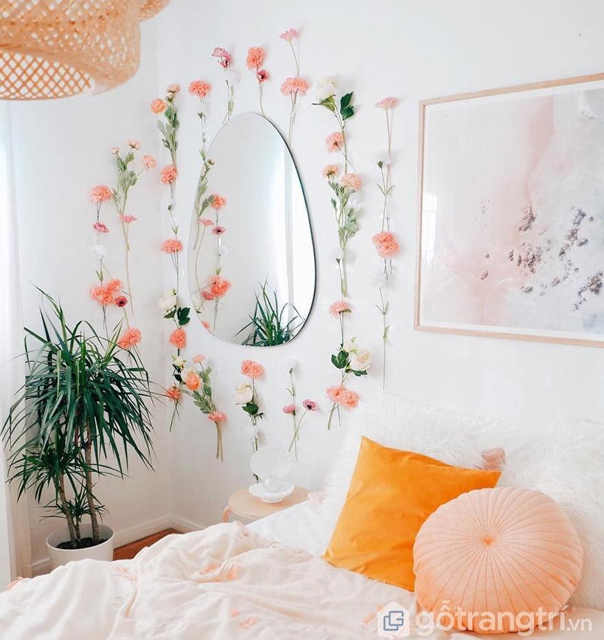 trang trí nhà với hoa giả