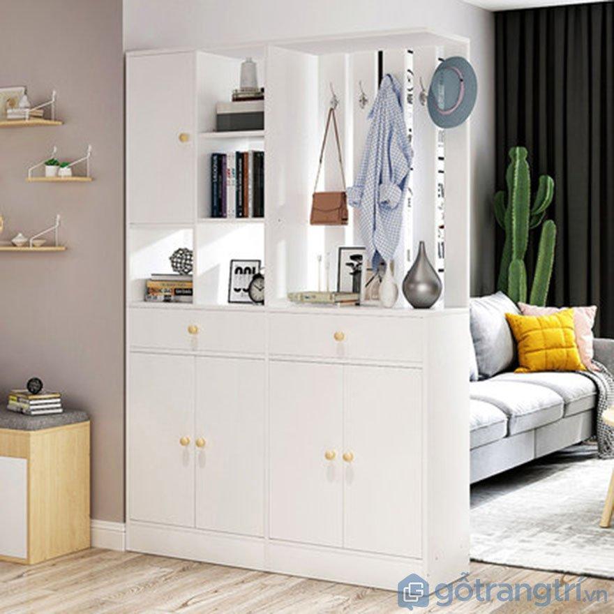 Tủ giày dép bằng gỗ MDF cốt lõi xanh chống ẩm GHS-51194