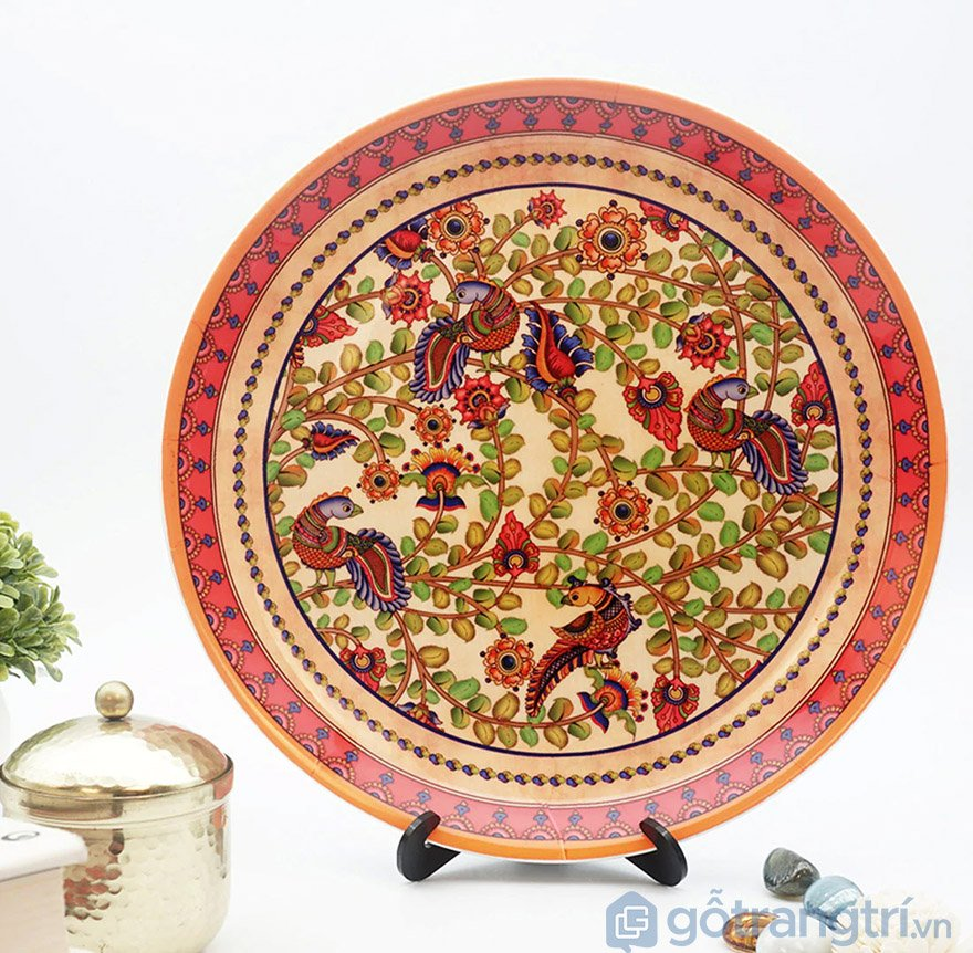đĩa gốm sứ phong thủy