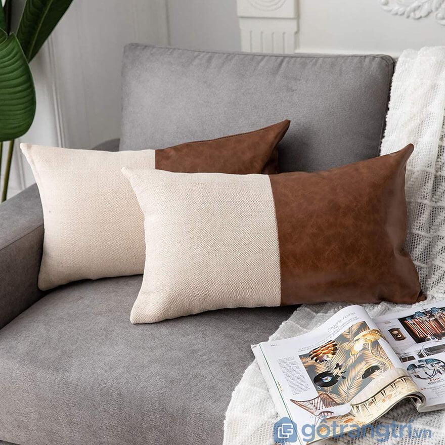 Gối sofa da