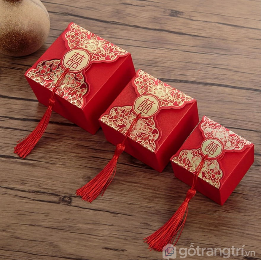 hộp đựng bánh kẹo ngày cưới