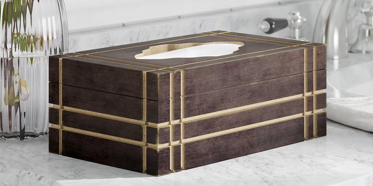 Hộp đựng giấy ăn bằng gỗ đẹp,