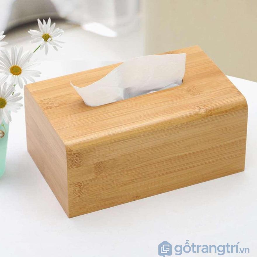 Hộp đựng giấy ăn bằng gỗ