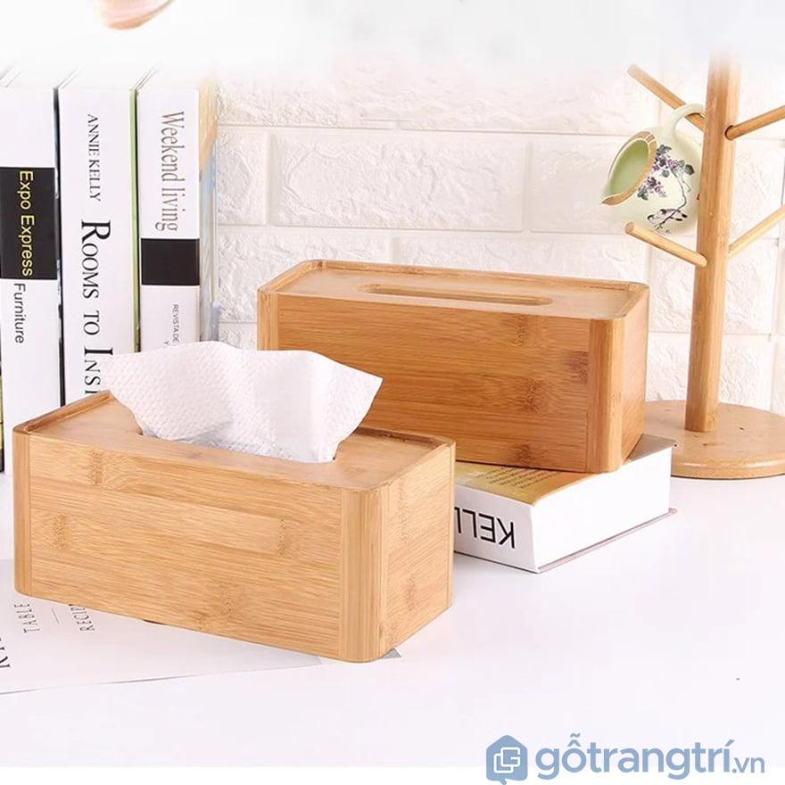 Hộp đựng giấy ăn bằng gỗ cao cấp
