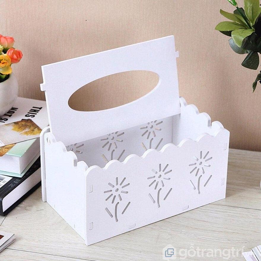 hộp đựng giấy ăn bằng gỗ hà nội