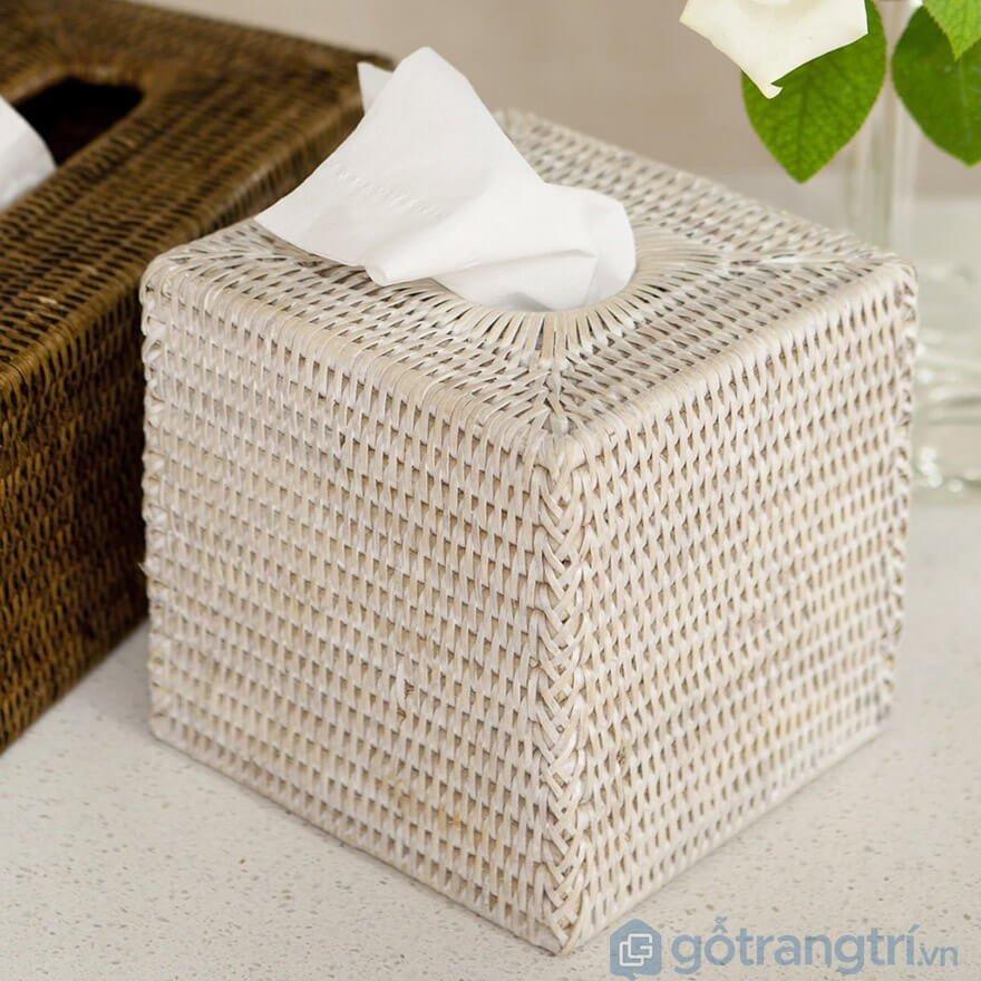 hộp đựng giấy ăn bằng mây