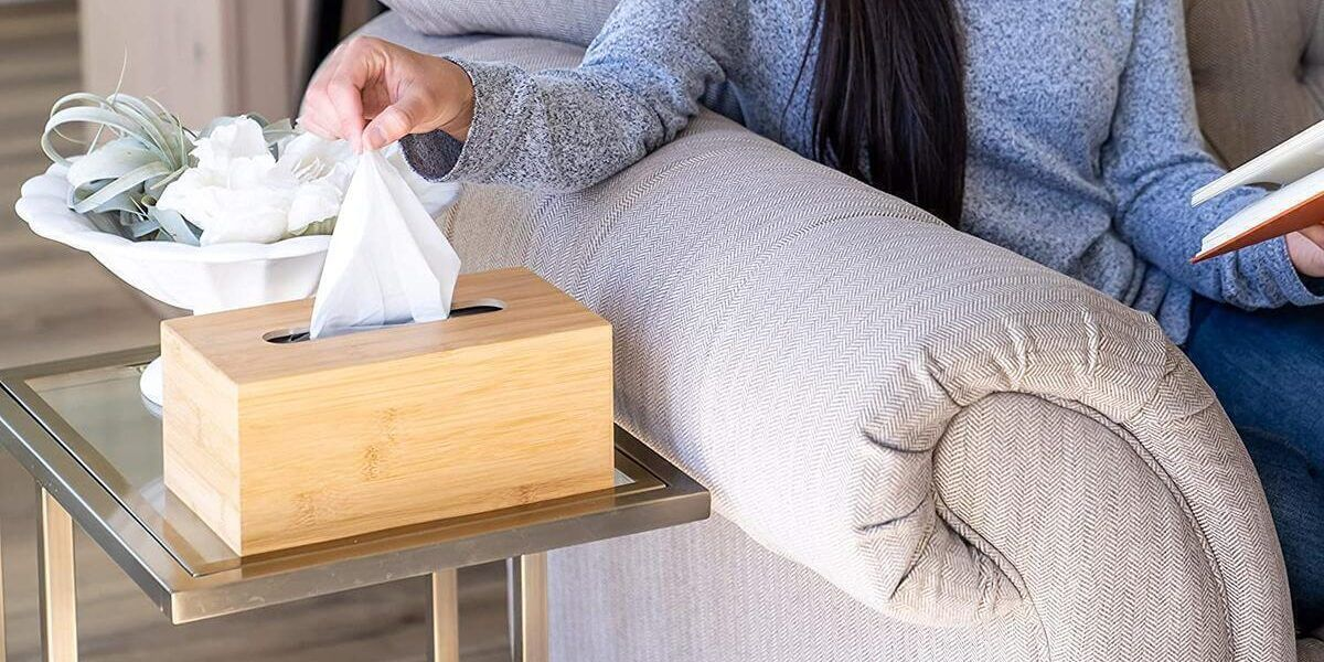 hộp đựng giấy ăn bằng tre