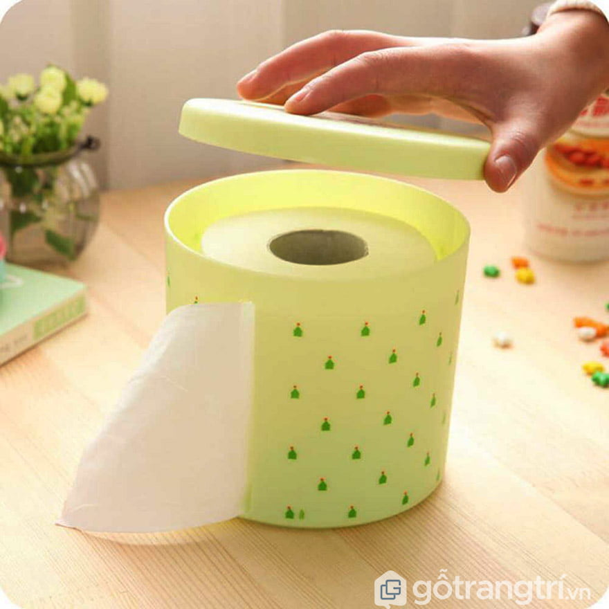 Hộp đựng giấy ăn cuộn