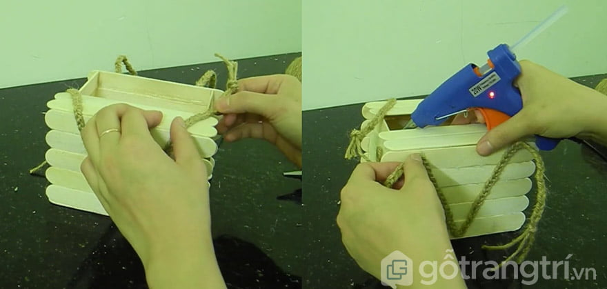 hướng dẫn làm hộp đựng giấy ăn hình vuông