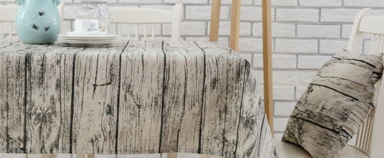 khăn trải bàn giả vân gỗ